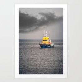RNLI Lifeboat Art Print