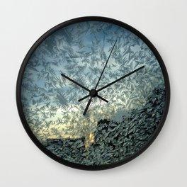 Ice Flakes Wall Clock