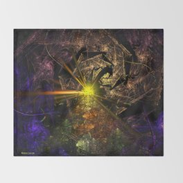 Machu Picchu 3D Fractal Throw Blanket