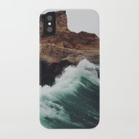 surf iPhone & iPod Cases featuring Montaña Wave by Kevin Russ