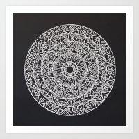 spiritual Art Prints featuring Spiritual Mandala by msimona