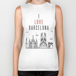 I Love Barcelona Biker Tank