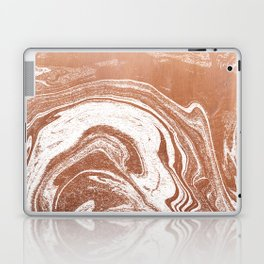 Marble suminagashi copper metallic japanese spilled ink watercolor ocean swirl marbling Laptop & iPad Skin