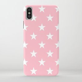 Stars (White/Pink) iPhone Case