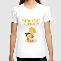 super heroes T-shirts featuring Super Heroes Help Others by youngmindz