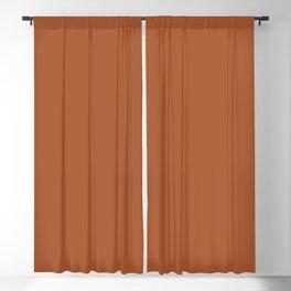 Clay Solid Deep Rich Rust Terracotta Colour Blackout Curtain