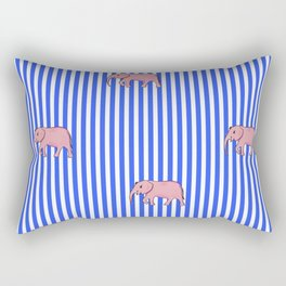 strip and elephants (https://society6.com/vickonskey/collection) Rectangular Pillow