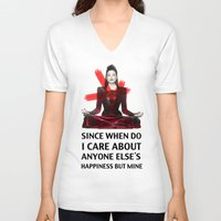 evil queen V-neck T-shirts featuring Evil Queen Quotes by Geek World