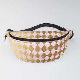 Royal gold on pink backround - Luxury geometrical pattern Fanny Pack