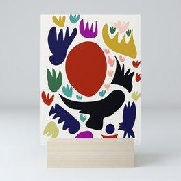 Birds in the sun minimal art abstract pattern decorative Mini Art Print