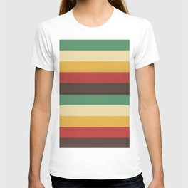 Horizontal lines summer pastel colours geometric pattern for home decoration T-shirt
