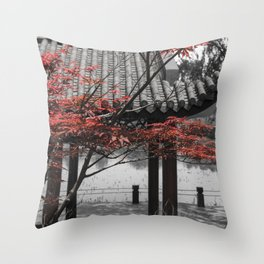 Gucun Garden Trees Throw Pillow