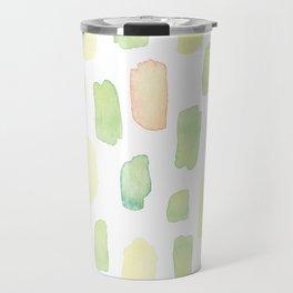 Pastel colors brushstrokes pattern Travel Mug