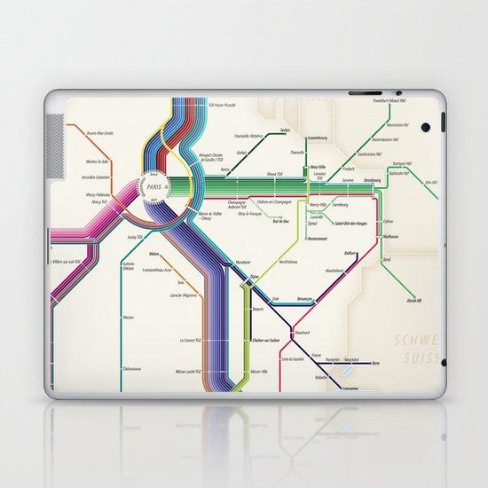 Itinéraires de train à grande vitesse de la France Laptop & iPad Skin