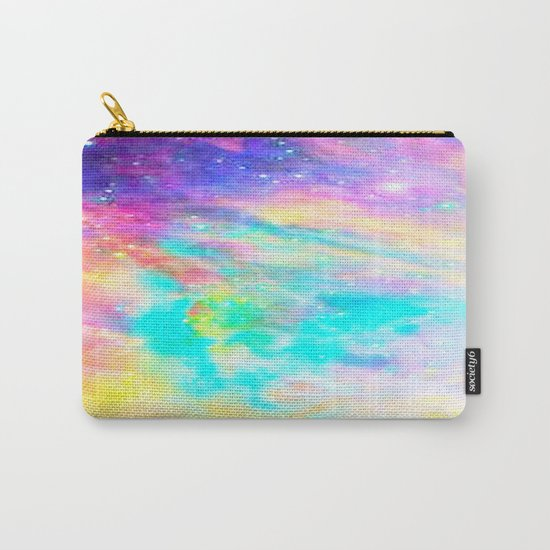 Abstract Galaxy : Bright & Colorful Carry-All Pouch