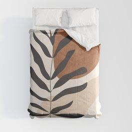 Abstract Art /Minimal Plant 12 Comforters