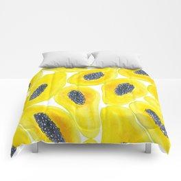 Papaya slices watercolor Comforters