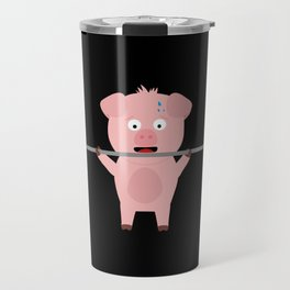 Fitness Pig with Weights Bjzsl Travel Mug