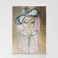 modern vampires of art history Stationery Cards featuring Pink Ladies: Art History by Amy Burvall