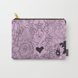 Meditation-Pink Carry-All Pouch