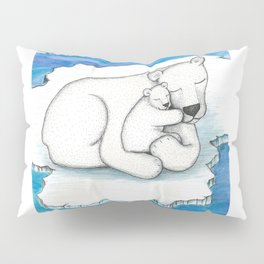 Polar Bear And Cub Pillow Sham