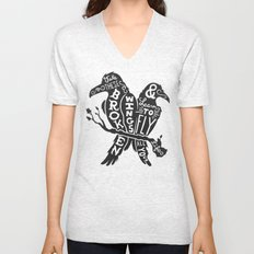 Blackbirds Singing Unisex V-Neck