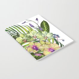 Bouquet, Orchid, Bud, Leaf Clipart, watercolor, handpainted, floral, flower, design, style, troical Notebook