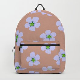 Positive hand drawn retro home decor and textile design almond flower pattern #2 Backpack