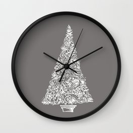 A Christmas tree in New Zealand Wall Clock