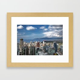 Aerial view at Downtown Vancouver Framed Art Print