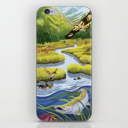 From Mountains to Sea iPhone Skin