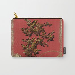 Golden flower on red Carry-All Pouch
