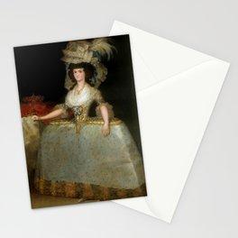 Francisco de Goya - María Luisa of Parma wearing panniers Stationery Cards