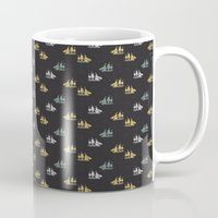 ships Mugs featuring Clipper ships by Akwaflorell