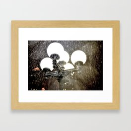 Union Square NYC rainy night. Framed Art Print