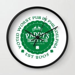 Paddy's Irish Pub Wall Clock