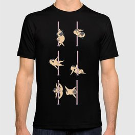 Pugs Pole Dancing Club T-shirt