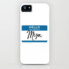 Mya Personalized Name Tag Woman Girl First Last Name Birthday iPhone Case