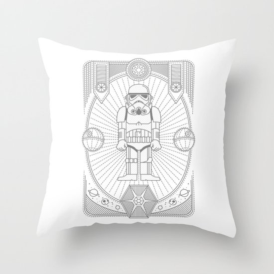 Stormtrooper Jam Throw Pillow