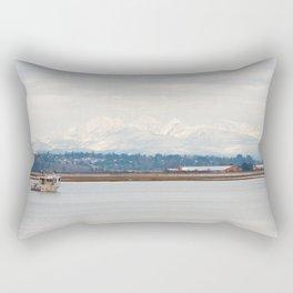 Mountainside in the Bay Rectangular Pillow