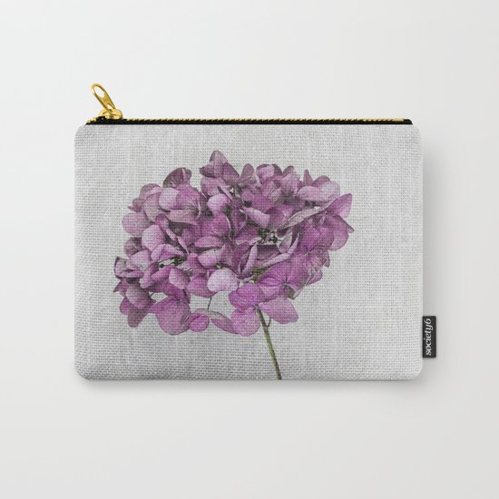 Pink Dried Hydrangea Carry-All Pouch