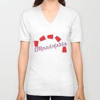 "always sunny V-neck T-shirts featuring It's Always Sunny ""Flipadelphia"" by Lindsay Schoen"