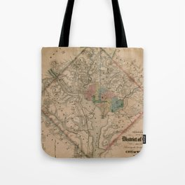Vintage Washington DC Civil War Defenses Map (1864) Tote Bag