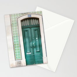 Tiled Green Door Stationery Cards