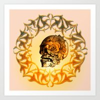 sugar skull Art Prints featuring Sugar skull by nicky2342