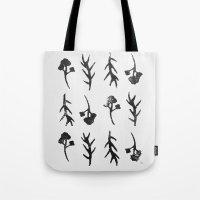 plants Tote Bags featuring plants by Ingrid Winkler