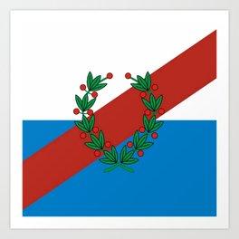 Flag of La rioja Art Print