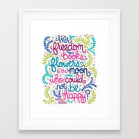 oscar wilde Framed Art Prints featuring Oscar Wilde Quote Illustration.  by Unraveled Design