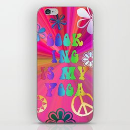 Cook ing is my Yoga iPhone Skin