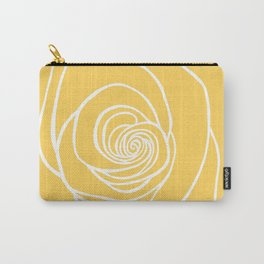 Sunshine Yellow Rose Drawing Carry-All Pouch